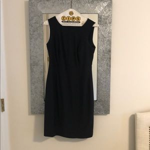 Talbots navy fitted sheath dress size 2P